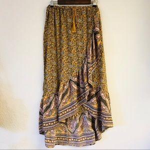 Dresses & Skirts - wrap maxi skirt size medium EUC